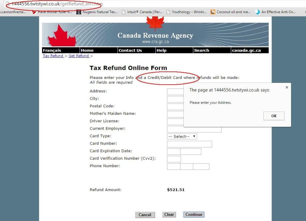 Scam Online Form