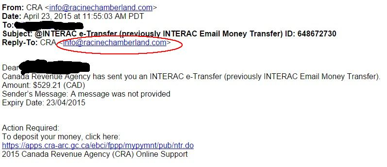 Scam Phishing Email